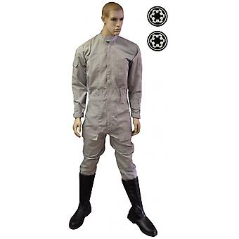 Star Wars AT-AT Driver Flightsuit - Includes 2 x FREE Imperial Cog Patches - Fantastic Replica - XL