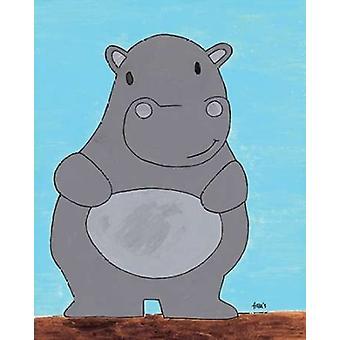 Stampa di Poster di Hypopotamus di Francis Veroude