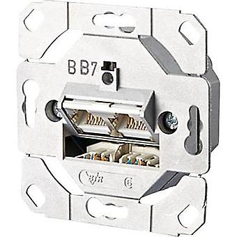 Network outlet Flush mount Insert CAT 6 2 ports Metz Connect
