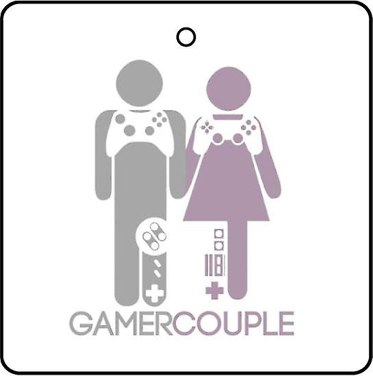 Gamer Couple Car Air Freshener