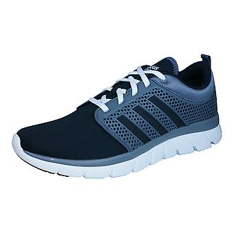 adidas Neo Cloudfoam Groove Mens Running Trainers / Shoes - Black