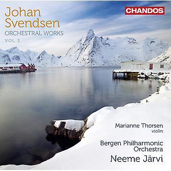 Johan Svendsen - Johan Severin Svendsen: Orkesterarbeten, Vol. 3 [CD] USA import