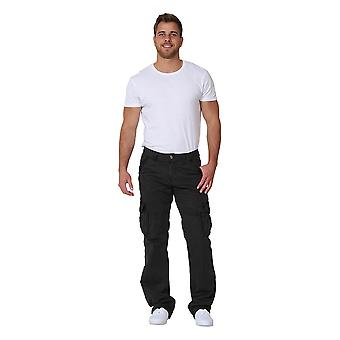 Men's Cargo Trousers - Grey Cargo pockets