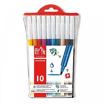 Caran D'Ache Fancolor Water-soluble Standard Fibre Tipped Pens - Pack Of 10*