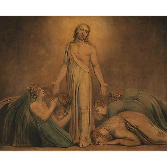 William Blake - Christ Appearing to the Apostles Poster Print Giclee