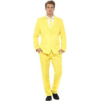 Smiffys Yellow Suit Yellow With Jacket Trousers & Tie (Costumes)