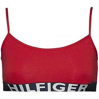 Tommy Hilfiger Women Bold Cotton Bralette, Red, Large