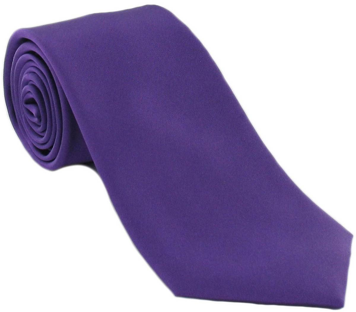Michelsons of London Plain Silk Tie - Lilac
