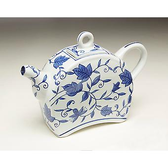 AA Importing 59786 Blue And White Teapot