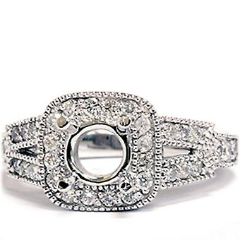 1/2ct Diamond Semi Mount Antique Engagement Setting