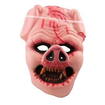 Creepy zombie pig mask pig mask Halloween
