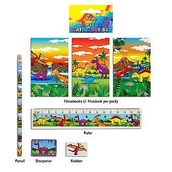 24 Dinosaur 5-Piece Stationery Sets