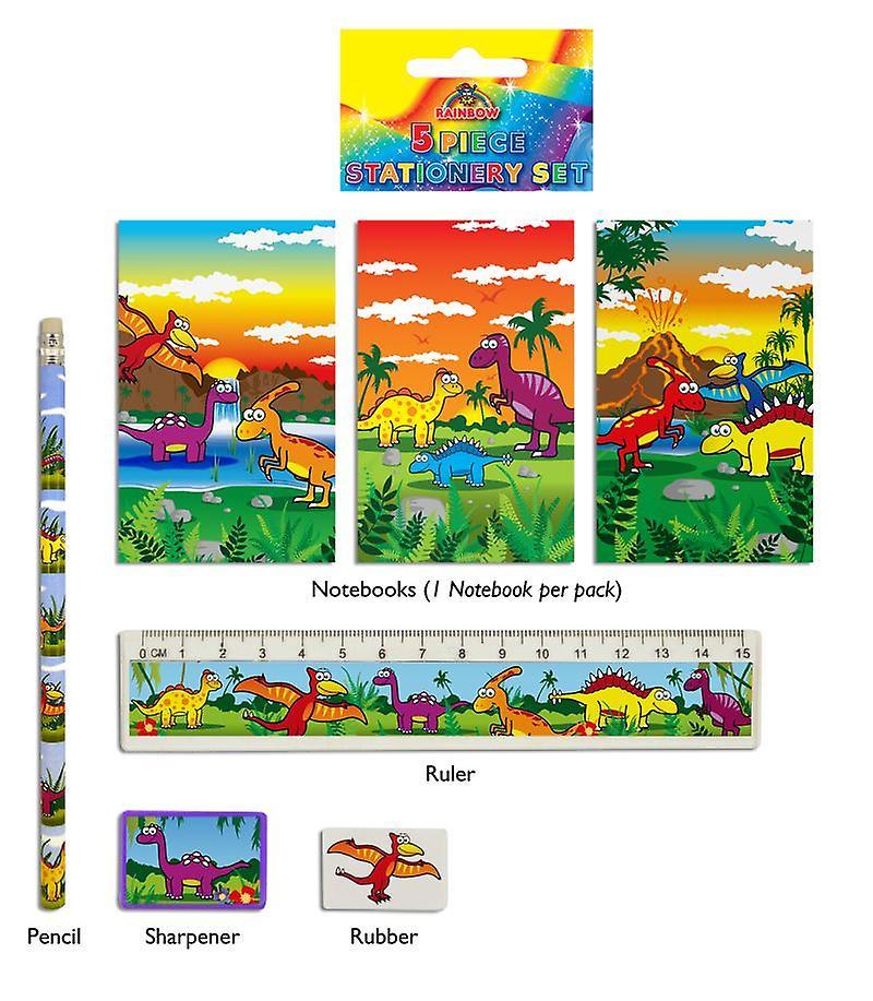 24 Dinosaur 5-Piece Stationery Sets