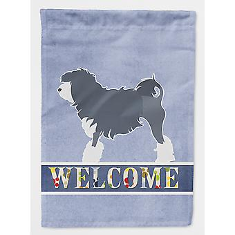 Carolines Treasures  BB5539CHF Lowchen Welcome Flag Canvas House Size