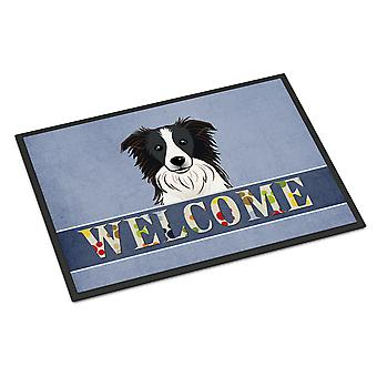 Border Collie Welcome Indoor or Outdoor Mat 24x36