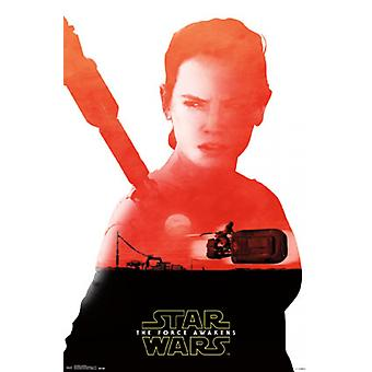 Star Wars: The Force se réveille - Rey Badge affiche Poster Print