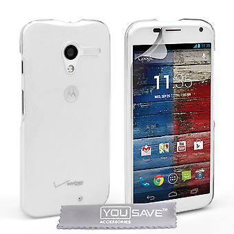Yousave tillbehör Motorola Moto X Hard Case - kristallklart