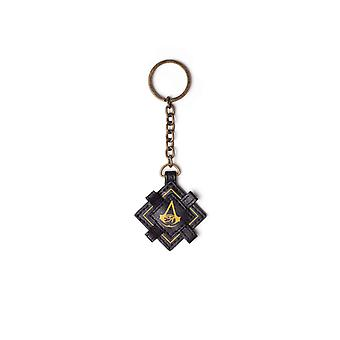 Assassins Creed Keyring Keychain Origins logo Official PS4 Xbox Faux Leather