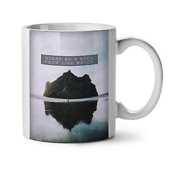 Flow Water Rock NEW White Tea Coffee Ceramic Mug 11 oz | Wellcoda