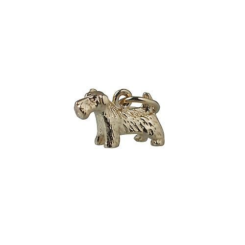 9ct guld 8x13mm Scottie hund hänge eller Charm