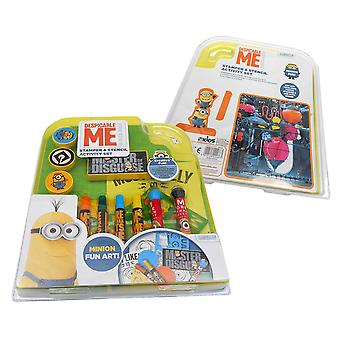 Minions stamper and stencil activity set