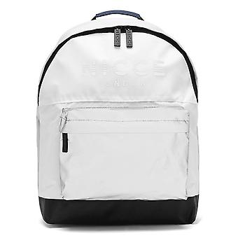 Nicce Achilles Spliced Logo Reflective Backpack - White / Grey