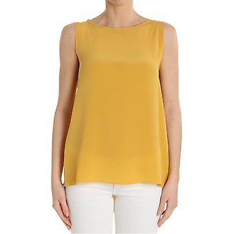 Ottod'ame ladies GINET86341504 yellow silk top