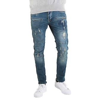 883 POLICE Moriarty New 423 Mid Wash Slim Stretch Jeans