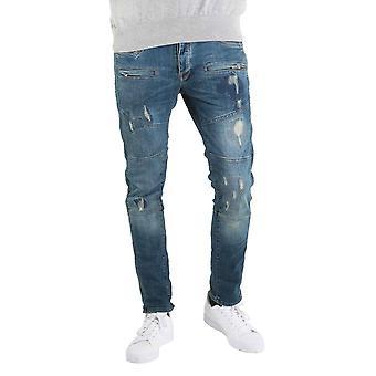 883 policía Moriarty 423 nuevos mediados Slim Jeans Stretch lavado