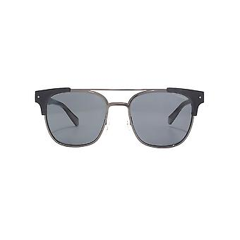 Polaroid Metal Combo Square Sunglasses In Black Polarised