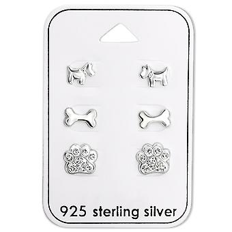 Собака - 925 стерлингового серебра наборы