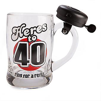 Black Birthday Bell Mug