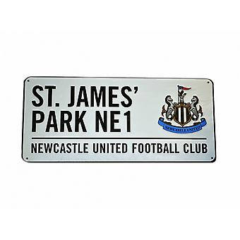 Newcastle Metal Street Sign