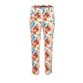Robell Bella Floral Print Trousers in Multi