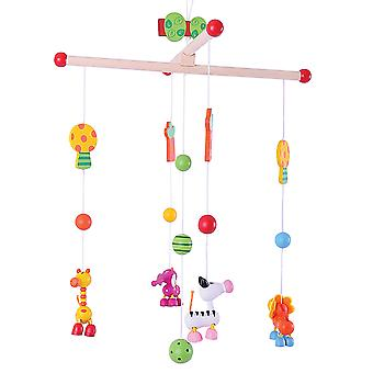 Bigjigs Toys Wooden Jungle Mobile - Cot and Nursery Accessories