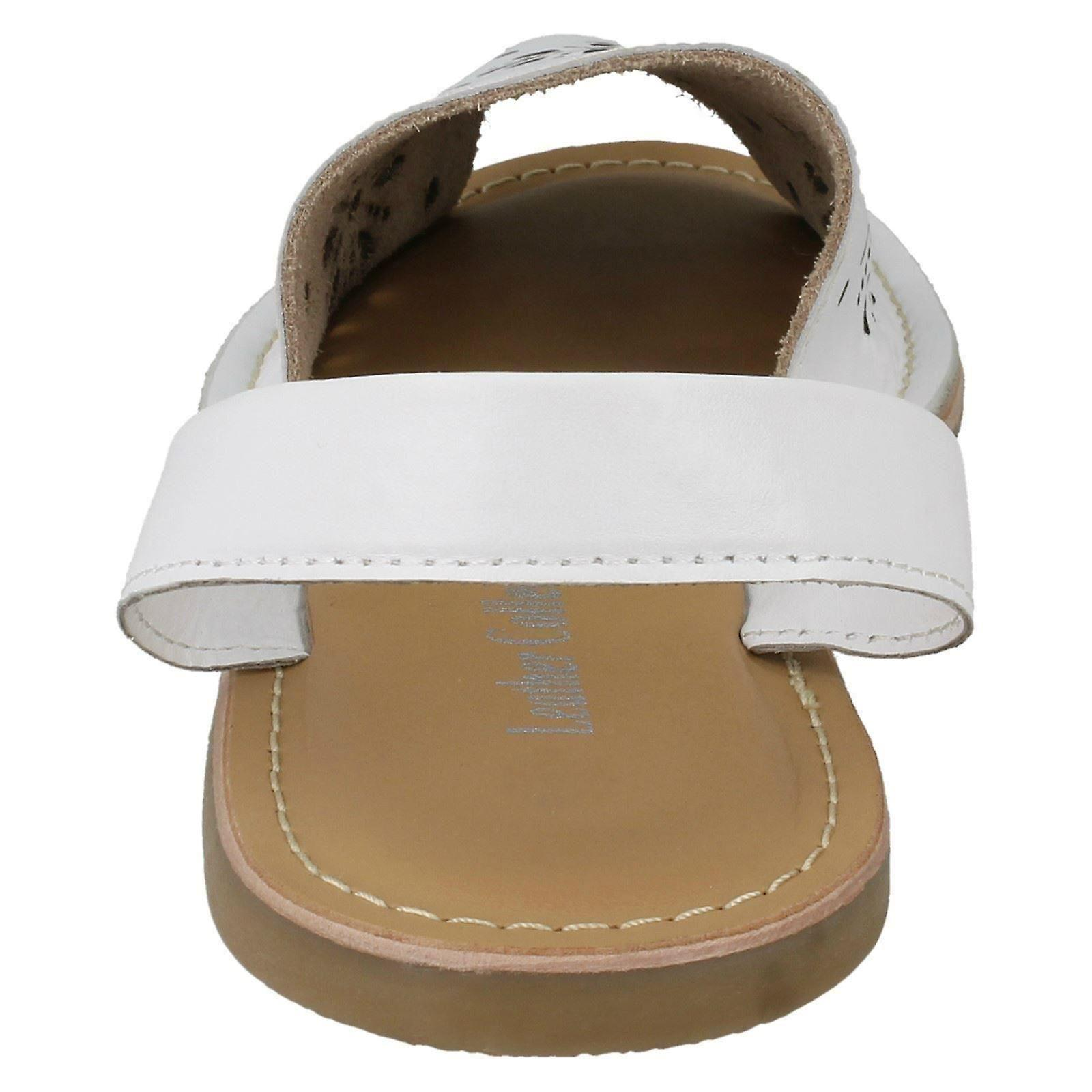 White Leather F00144 41 Design Size Leather US UK Size Mules Size Ladies 8 Collection EU 10 Flower 0nwCg4xfq