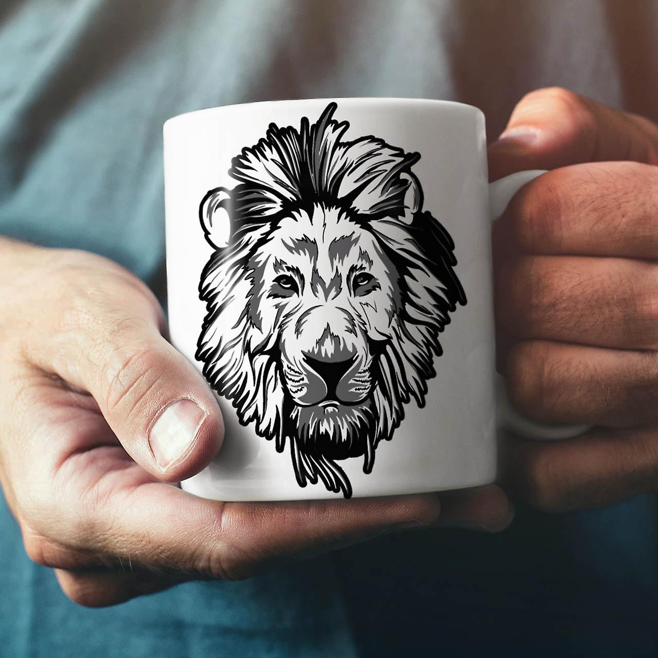 Lion Beast Calm Animal NEW White Tea Coffee Ceramic Mug 11 oz | Wellcoda