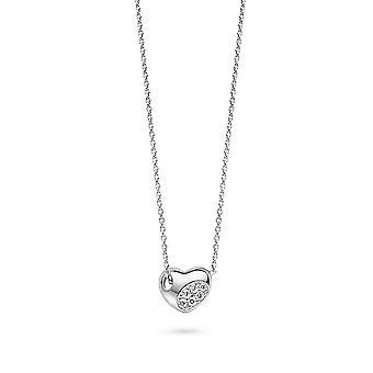 Orphelia Silber 925 Halskette Witz mit Zirkonium Herz Anhänger ZK-2767