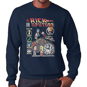 Rick And Morty Back To The Future Mix Men's Sweatshirt