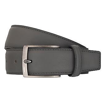 OTTO KERN bälten mäns bälten läder bälte grå 7004