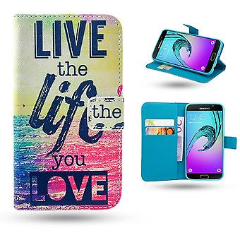 Samsung Galaxy A3 2016-Case/wallet-Live the Life