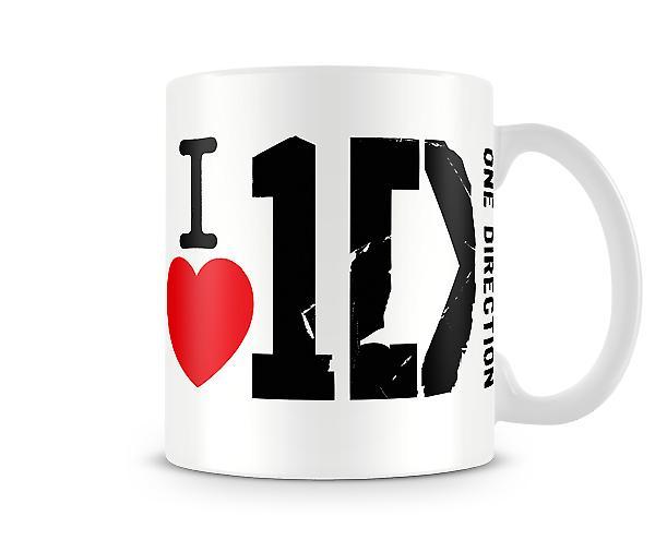 Ik hou van 1D! Bedrukte mok