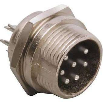 Mini DIN connector Plug, vertical mount Number of pins: 4 Silver BKL Electronic 0206013 1 pc(s)