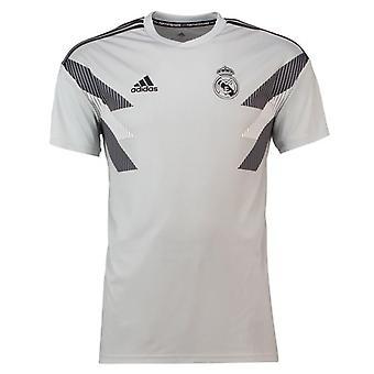 2018-2019 Real Madrid Adidas Pre-match Training Shirt (Grey) - Kids