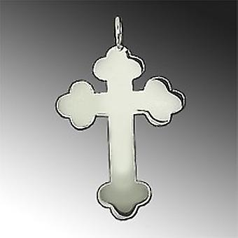 Cross pendant Necklaces Pendants cross orthodox 925 sterling silver hand polished massively