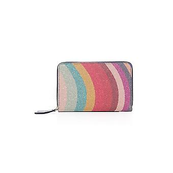 Paul Smith Accessories Womens Leather Disco Glitter Mid Size Purse