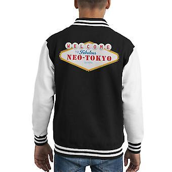 Akira Welcome To Neo Tokyo Vegas Sign Kid's Varsity Jacket