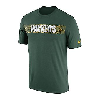 Nike Nfl Green Bay Packers Sideline Seismic Legend Performance T-shirt