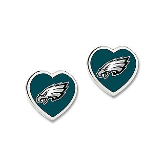 Wincraft ladies 3D heart Stud Earrings - NFL Philadelphia Eagles