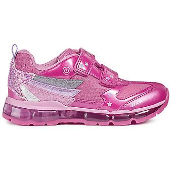 Geox Girls Android J8445B Trainers Pink